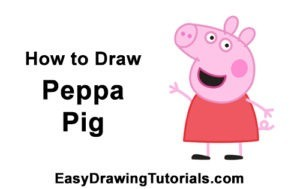 how to draw peppa pig 300x189 - DIBUJOS PRINCESAS FÁCILES BONITAS DISNEY FROZEN 2 RAPUNZEL COLOREAR