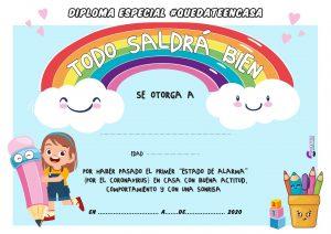 DIPLOMA  quedateencasa niña para colorear pdf Mesa de trabajo 1 1 300x212 - 127 RETOS DIVERTIDOS PARA NIÑOS EN CASA GIMNASIA Y ACTIVIDADES PARA JUGAR