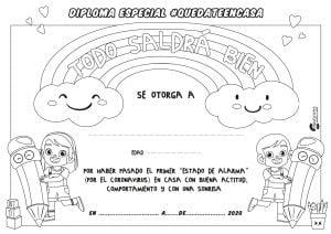 DIPLOMA  quedateencasa niña para colorear pdf Mesa de trabajo 1 copia 6 2 300x212 - 127 RETOS DIVERTIDOS PARA NIÑOS EN CASA GIMNASIA Y ACTIVIDADES PARA JUGAR