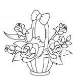 Flower Coloring 150x150 - PACK COLECCIÓN LIBRO DIBUJOS PARA IMPRIMIR Y COLOREAR PDF FÁCILES INFANTILES PARA NIÑOS PRIMARIA GRATIS PARA PINTAR