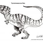t rex full r 150x150 - PACK COLECCIÓN LIBRO DIBUJOS PARA IMPRIMIR Y COLOREAR PDF FÁCILES INFANTILES PARA NIÑOS PRIMARIA GRATIS PARA PINTAR