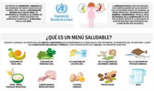menú saludable niños
